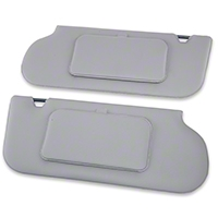 TMI Vinyl Sun Visors w/ Mirrors- T-Top/Sunroof - Smoke Gray (85-93 All) - TMI 21-73006-1514