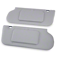 TMI Vinyl Sun Visors w/ Mirrors- T-Top/Sunroof - Titanium Gray (90-92 All) - TMI 21-73006-1514