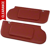 TMI Vinyl Sun Visors w/ Mirrors- T-Top/Sunroof - Scarlet Red (85-93 All) - TMI 21-73006-850