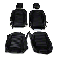 TMI Sport R Leather Upholstery Full Set - White Stitch (05-07 Coupe Non-Airbag) - TMI 46-78925-L743-99-L764-WS