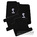 Black Floor Mats - Convertible - Cobra Logo (94-98 All) - AM Floor Mats 12231