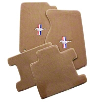 Parchment Floor Mats - Convertible - Pony Logo (94-98 All) - AM Floor Mats 012223