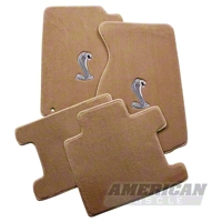 Parchment Floor Mats - Convertible - Cobra Logo (94-98 All) - AM Floor Mats 12233
