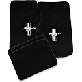 Black Floor Mats - Coupe - Pony Logo (94-98 All) - AM Floor Mats 12121