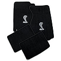 Black Floor Mats - Cobra Logo (99-04 All)