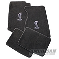 Gray Floor Mats - Coupe - Cobra Logo (94-98 All)