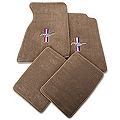 Parchment Floor Mats - Coupe - Pony Logo (94-98 All) - AM Floor Mats 12123