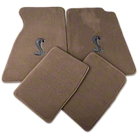 Parchment Floor Mats - Coupe - Cobra Logo (94-98 All) - AM Floor Mats 12133