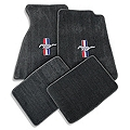 Gray Floor Mats - Pony Logo (99-04 All) - AM Floor Mats 12122