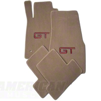 Parchment Floor Mats - Red & Black GT Logo (05-10 All)