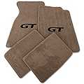 Parchment Floor Mats - Black GT Logo (99-04 All) - AM Floor Mats 12173