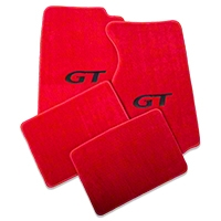 Red Floor Mats - Coupe - GT Logo (94-98 All) - AM Floor Mats 12177