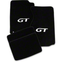 Black Floor Mats - Coupe - Silver GT Logo (94-98 All)