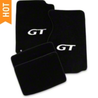 Black Floor Mats - Silver GT Logo (99-04 All)