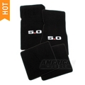 Black Floor Mats - 5.0 Logo (79-93 All) - AM Floor Mats 12381