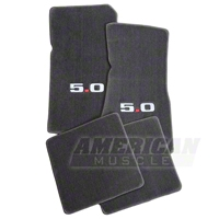 Gray Floor Mats - 5.0 Logo (79-93 All) - AM Floor Mats 12382