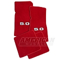 Red Floor Mats - 5.0 Logo (79-93 All) - AM Floor Mats 012387