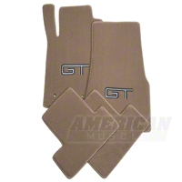 Parchment Floor Mats - Silver & Black GT Logo (05-10 All)