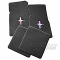 Gray Floor Mats - Pony Logo (79-93 All) - AM Floor Mats 12322