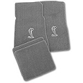 Gray Floor Mats - Cobra Logo (79-93 All) - AM Floor Mats 012332