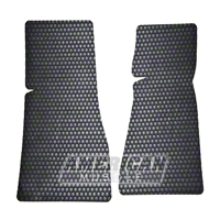 Rubbertite Black Floor Mats - 2pc (83-93 Convertible; 84-86 SVO) - AM Floor Mats 3295200-801-rubber-2pc