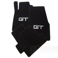 Black Floor Mats - Silver & Black GT Logo (11-12 All) - AM Interior 93070