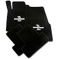 Black Floor Mats - Shelby GT500 Snake Logo (05-10 All) - AM Floor Mats 112051