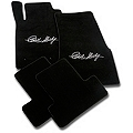 Black Floor Mats - Carroll Shelby Signature (05-10 All) - AM Floor Mats 112011