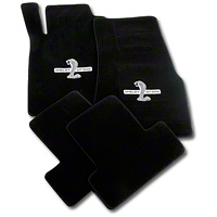 Black Floor Mats - Shelby GT500 Snake Logo (11-12 All) - AM Floor Mats 111951