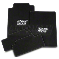 Black Floor Mats - BOSS 302 Emblem (11-12 All) - AM Floor Mats F211981