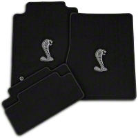 Black Floor Mats - Cobra Logo (05-10 All) - AM Floor Mats 12031