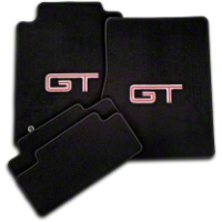 Black Floor Mats - Silver & Red GT Logo (05-10 All) - AM Floor Mats 12061