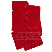 Red Floor Mats (79-93 All) - AM Floor Mats 12307