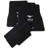 Black Floor Mats - 50th Anniversary Logo (13-14 All) - AM Floor Mats F211841