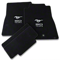 Black Floor Mats - 50th Anniversary Logo (11-12 All) - AM Floor Mats F211941