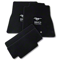 Black Floor Mats - 50th Anniversary Logo (05-10 All) - AM Interior F212041