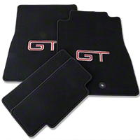 Black Floor Mats - Silver & Red GT Logo (11-12 All) - AM Floor Mats 93168
