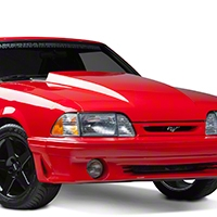 AmericanMuscle 3in Cowl Hood - Unpainted (87-93 All) - AmericanMuscle Hoods 94000
