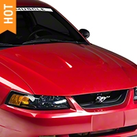 AmericanMuscle Heat Extractor Style Hood - Unpainted (99-04 All) - AmericanMuscle Hoods 94005