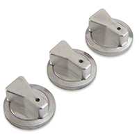 Polished Billet Aluminum A/C Knobs (87-89 All)