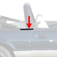 Exterior Quarter Window Belts - Convertible (83-93 All) - AM Restoration 94307||2156632||95711||KF2067