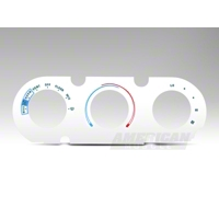 White A/C Gauge Face (87-89 All)