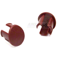 Arm Rest Pad Plugs - Red (87-93 All) - AM Restoration 2156662R