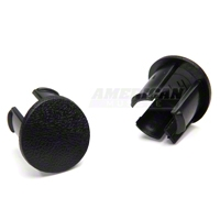 Arm Rest Pad Plugs - Black (87-93 All) - AM Restoration 2156662B