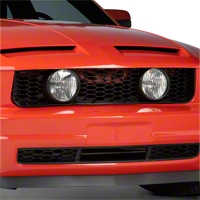 GT Style Pony Delete Grille w/ Fog Lights (05-09 V6) - AM Exterior NM0141