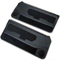 Black Door Panels w/ Power Windows & Carpeting - Coupe, Hatchback (87-93 All) - AM Restoration DP88-958