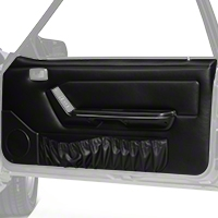 Black Door Panels w/ Power Windows & Map Pockets - Coupe, Hatchback (87-93 All) - AM Restoration DP89-958