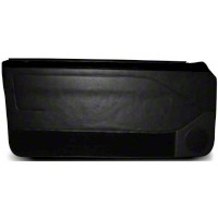 Black Door Panels w/ Manual Windows & Carpeting - Coupe, Hatchback (87-93 All) - AM Restoration DP93-958