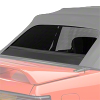 Replacement Convertible Rear Window Glass - Black (83-93 All)