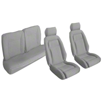 Titanium Gray Front & Rear Sport Seat Upholstery - Hatchback (87-89 All) - AM Restoration 95016